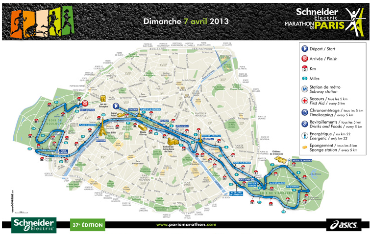 Marathon de Paris 2013 - le Parcours dans Prémices marathon-de-paris-2013-la-course-parcours-la-carte1